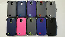 New Defender Case & Belt Clip Holster For Samsung Galaxy S4