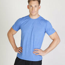 Plain blank heather tshirt mens quality basic tee | activewear gym workout