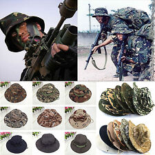 NEW Mens Bucket Boonie Hunting Fishing Outdoor Cap Canvas Military Sun Hat
