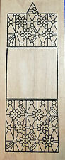 Outlines Rubber Stamp Co. Background Wood Mounted Swatch Stamps