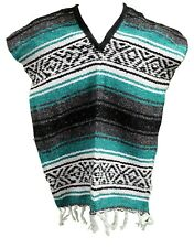KIDS Traditional MEXICAN PONCHO ONE SIZE FITS ALL Blanket Serape Gaban ASSORTED