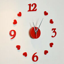 3D DIY Self Adhesive Decal Modern Wall Digit Room Interior Decoration Wall Clock