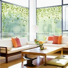 Lovely Leave Frosted Window Film Privacy Bedroom Bathroom Office Glass Decor SOZ