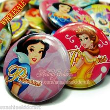 Princess Tin Buttons pins badges,30MM,Round Brooch Badge,Decorate Gift