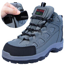 New Mens K2ASF Safety Work Boots Steel Toe Cap Zippers & Velcro Made in Korea