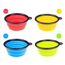 Silicone Collapsible Travel Portable Pet Dog Cat Feeding Water Dish Feeding Bowl