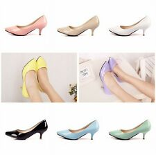 Cute Candy Color Patent Leathe Stiletto Pointed Toe Pumps Women High Heels Shoes