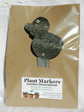 Plant Marker Corrugated Iron Garden Art Bird Handmade Choice of 2 Designs