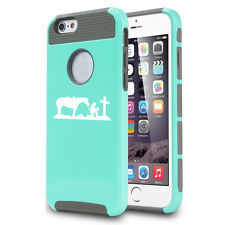 For iPhone 5 5s 5c 6 Plus Shockproof Impact Hard Case Cowgirl Pray Cross Horse