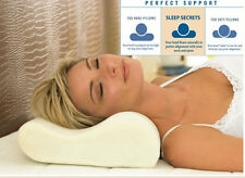 SINGLE CONTOUR MEMORY FOAM PILLOW ORTHOPAEDIC FIRM HEAD NECK BACK SUPPORT