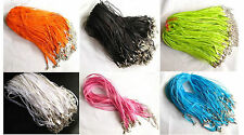 10pcs Organza Ribbon Necklace Cords jewerlly making craft Alloy Clasp 45cm+5cm A
