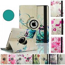 360 Rotating Folio For ipad 2 3 4 Leather New Vogue Case Cover Flower Pattern