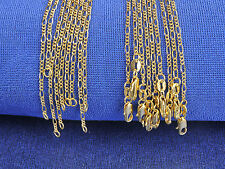 10Pcs 16-30inch Figaro Necklaces Link Chains 18K Yellow Gold Filled GF Jewelry