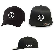YAMAHA RACING Motor Flex Fit HAT CURVED or FLAT BILL ***FREE SHIPPING in BOX***