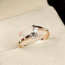 Elegant Jewelry 18K Rose Gold GP Swarovski Crystal Engagement Wedding Party Ring