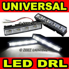 Xenon White LED Daytime Running Light DRL Day Time Driving Lamp Daylight Kit