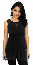 Black Maternity Sleeveless Maternity Pregnancy Top  S M L XL