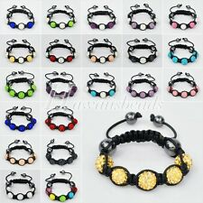 1pc Children Pave Crystal Beads Bracelet Adjustable Perimeter 11-17cm SL0005-6