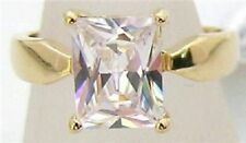 18K GOLD EP 4.5CT DIAMOND SIMULATED SOLITAIRE RING sizes 5-11 u choose the size