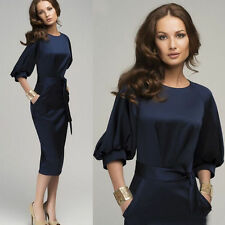 New Women Summer Casual Office Lady Party Evening Cocktail Midi Dress Size 4-16