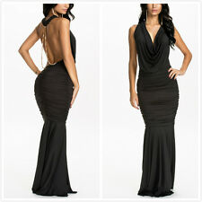 Womens Backless Long Evening Formal Party Cocktail Wedding Maxi Dress Prom Gown