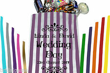 Personalised Wedding Sweet Bags for your wedding sweet table, candy bar or event