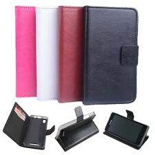 """New Stand Wallet Folio Build-in Case Cover Skin For 5"""" Lenovo A3500 Mobile Phone"""