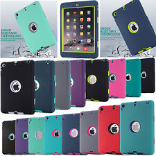 Shockproof Heavy Duty Rubber Hard Case Cover For Apple iPad Mini 1/2/3 +film+pen