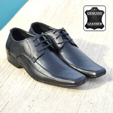 Mens Gents Lace Up Upper Leather Wedding Office Formal Smart Dress Black Shoes