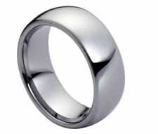 7mm Men's or Ladies Tungsten carbide Classic Domed Shiny wedding band ring