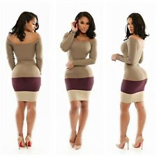 Women's Sexy Bandage Bodycon Clubwear Cocktail Mini Off Shoulder Party Dress S-L