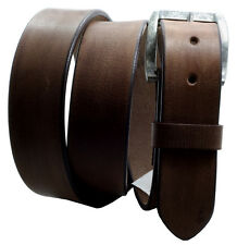 "Paul &Taylor BROWN Hand Oiled Leather BELT Vintage Look Snaps 1-1/2"" Wd 9702"