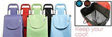 Trek Insulated Shopping Trolley Tote Cart Storage Bag on Wheels Leopard cooler