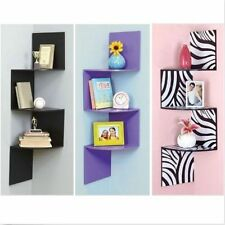 Corner Storage Display Shelf Book Toys Wall Mount Shelves Great Gift Cases New