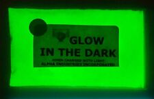 Glow in the Dark Pigment Powder in BRIGHT GREEN GLOW colour from UK SELLER
