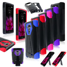 For LG G4 Hybrid Heavy Duty Dual Layer Rubber Rugged Hard Case Cover Stand