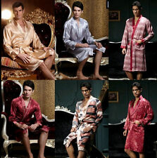 Hot Men's silk Japanese Chinese Kimono Robe Gown Bathrobe sleepwear Nightwear