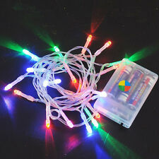 Multi-color 10-80 LED Fairy String Lights Wedding Party Xmas Garden Decor 1-10m