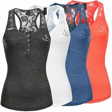 Fresh Made Damen Tank Top LFM-074 Damentop Trägershirt Tanktop Feinripp Shirt