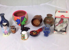 Vintage Selection of Miniature Foreign souvenirs England Germany Asia
