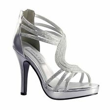 Womens Touch Ups Tuesday Elegant Classy High Heel Shoes with Sexy Strappy Look