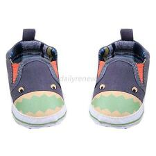 Cute Baby Boy Girl Canvas Loafer Crib Shoes Infant Newborn Slip-On Walking Shoes