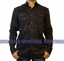 Affliction Malibu Canyon 110WV383 Men`s New Dark Tobacco Brown Button-Down Shirt