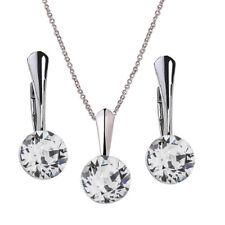 Sterling Silver Earrings Necklace Set *XIRIUS* Genuine Crystals from Swarovski®