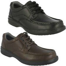 KEELER WALK MENS CLARKS LEATHER WIDE FITTING LACE UP CASUAL WORK SHOES £49.99
