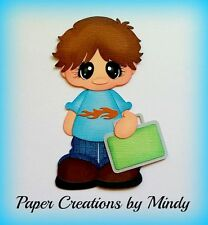 Craftecafe Mindy Fall School boy premade paper piecing scrapbook page album