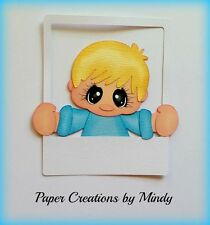 Craftecafe Mindy Fall School Picture boy premade paper piecing scrapbook page