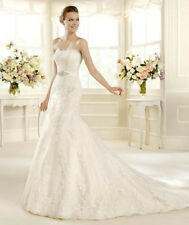 Excellent Fashion Mermaid Wedding Dress Bridal Gown New Custom Size 8 10 12 14++