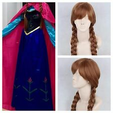 Adult Women's Anna Elsa Frozen Costume Cosplay With Cape + Wig