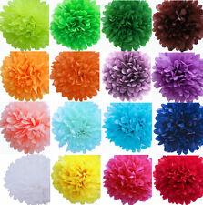 """14"""" Colorful Tissue Paper Pom Poms Flower Ball Wedding Birthday Party Decoration"""